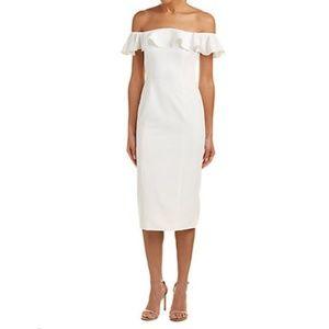 Jay Godfrey Midi Dress, White Size 6